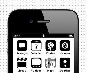 Retro iPhone Skin Design