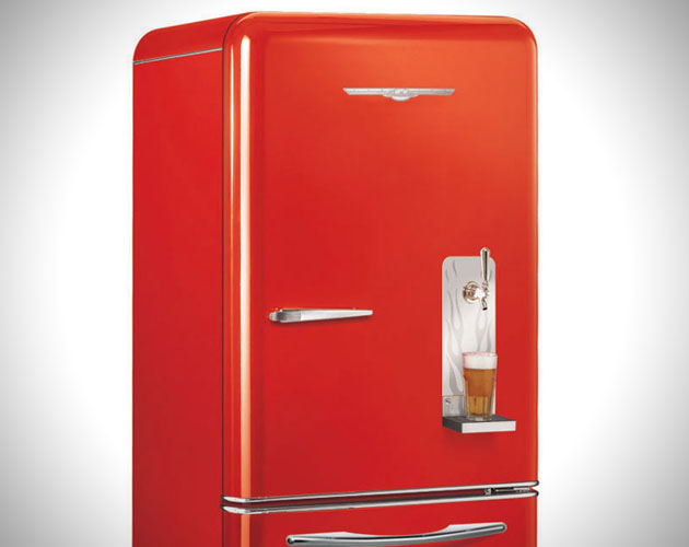 retro refrigerator with built in draft system. Black Bedroom Furniture Sets. Home Design Ideas