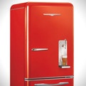 Retro Refrigerator With Built-In Draft System