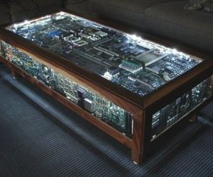Reuse your old computer parts...Make a coffee table!