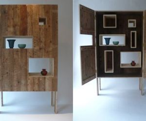 Reveal cabinet with hidden storage