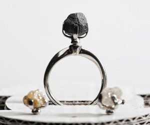 Ring with Interchangable Rough Diamonds