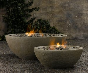 River Rock Fire Bowls from Restoration Hardware
