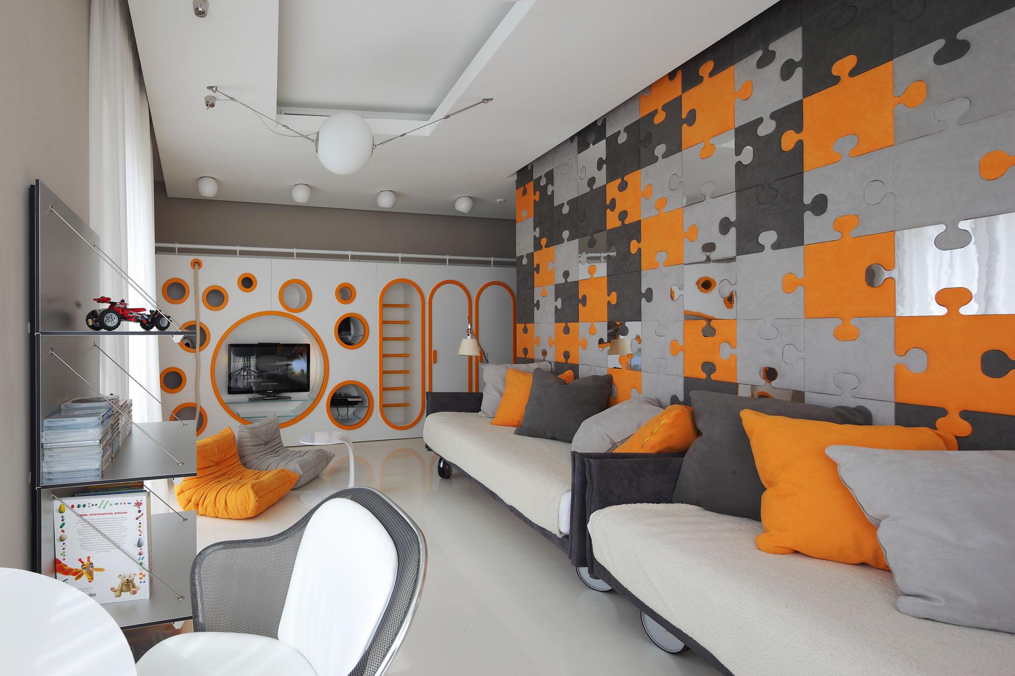 Оригинальный дизайн комнат