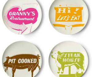 Roadside Signs Melamine Plate Set