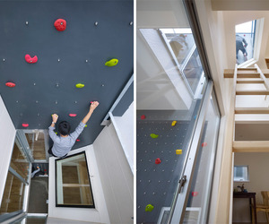 Rock Climbing Wall House in Japan