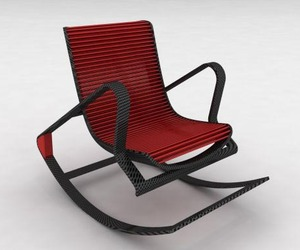 Rocking Chair to Armchair by Peter Vardai