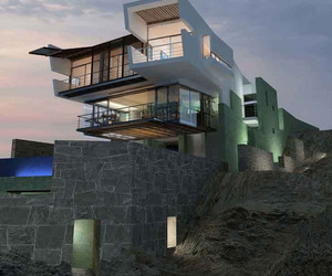 Rocky Cliff Lefevre House by Longhi Architects