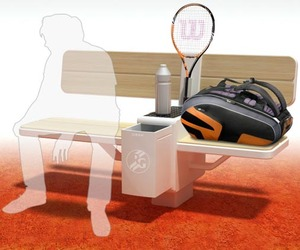 Roland Garros tennis players' bench by Geoffrey Graven