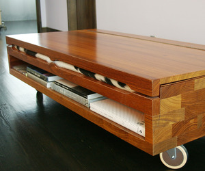 Rolling Boxes Veratile Coffee Table