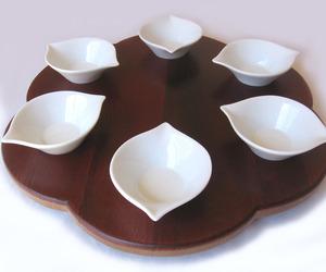 Rondo, Seder plate recycled oak wine barrel head
