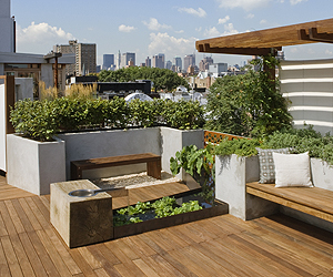 Roof garden addition by Pulltab Design
