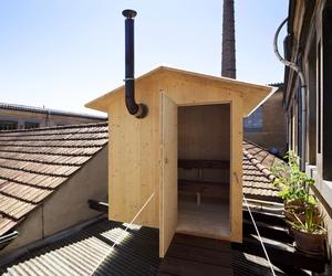 Rooftop Sauna in Geneva by BUREAU A + Jérémie Gindre