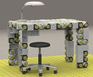 Roombots self-assemble to double as furniture units