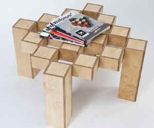Rotating Square Table by Tom Cecil