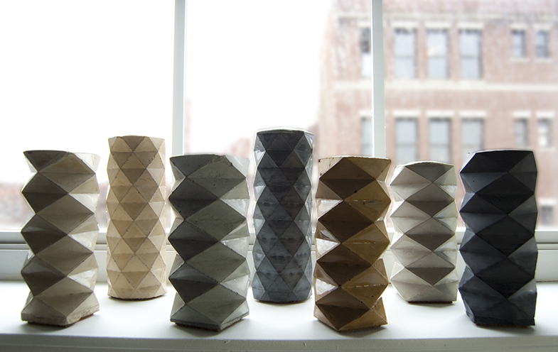 Rumigami - Concrete Candle Holders