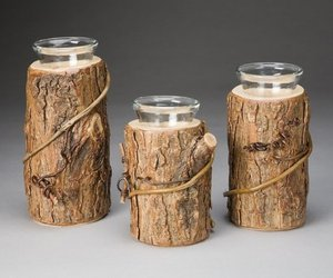 Rustic Candle Holders designed from Wild Willow Wood