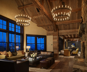 Rustic-Modern Yellowstone Club Residence by KMA Inc.