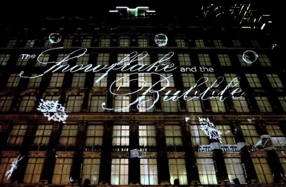 Saks Fifth Avenue 3d Holiday Light Projection Videos