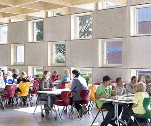 Salmtal Secondary School Canteen by SpreierTrenner
