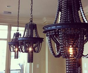 Salvaged Bike Chain Chandeliers