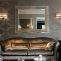 Saxon with Chrome Leather Mirror by Simpsons