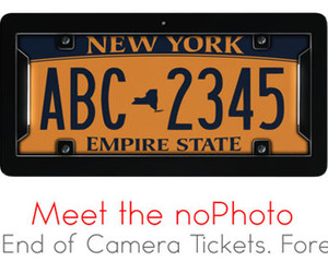 noPhoto License Plate Frame Eliminates Traffic Cam Tickets