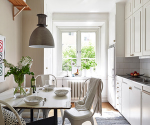 Scandinavian apartment with delicate feminine touches
