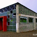 School Made of discarded Plastic bottles