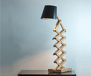 Scissor Lamp by Joska & Sons