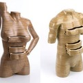 Sculpted Wood Human Form Dressers