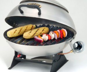 Sea-B-Que Grills - you can mount them on a railing...