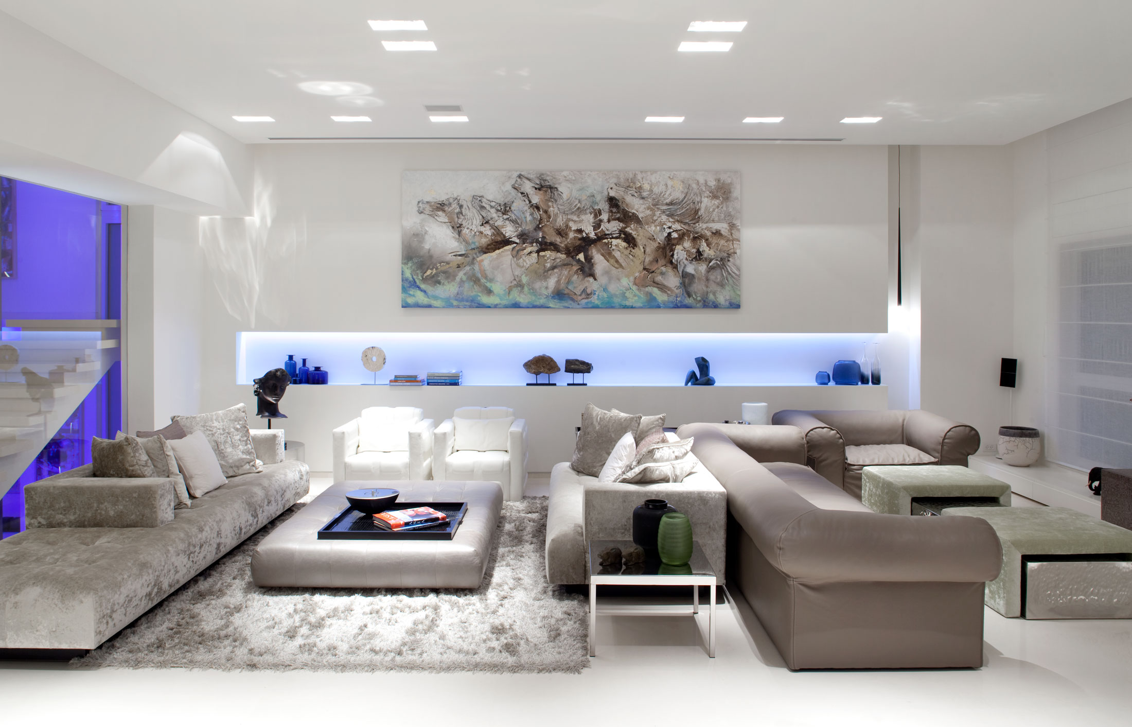Home Interior Lighting Design Painting Sea Shell Residence Interiorlanciano Design