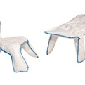 Seam Chair and Bench by Chris Kabel