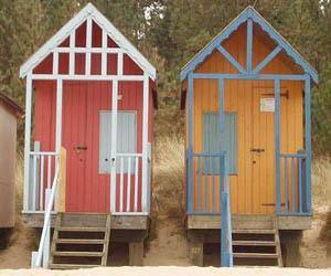 Seaside Beach Huts by James Ward