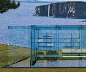 Seaside Glass Constructed House by Santambrogio