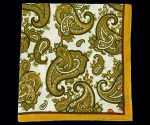 Senape Paisley - Linen Pochette