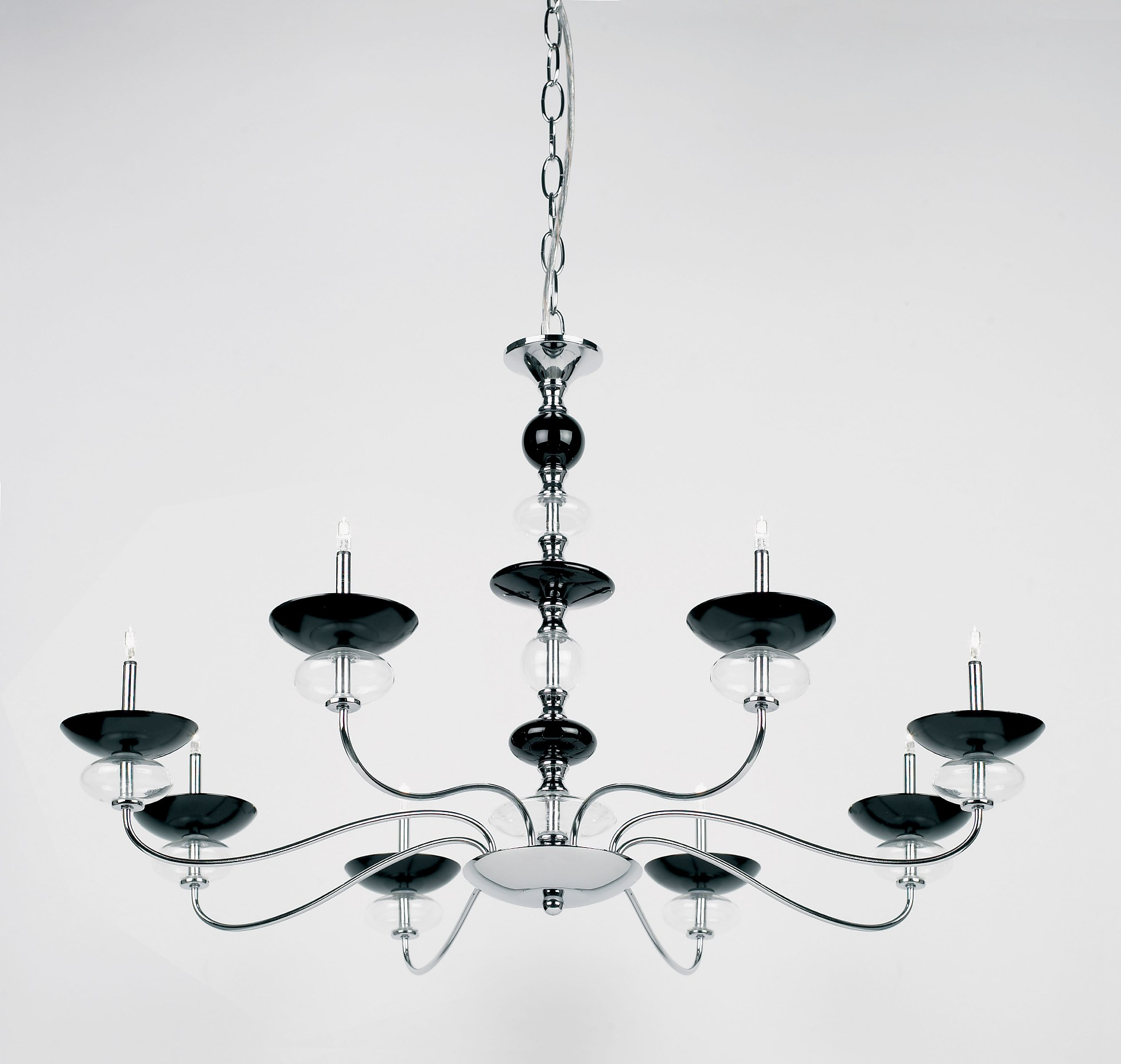 Modern Arm Chandelier: Contemporary Five Arm Chandelier