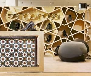 Sergio Rossi shop in Casablanca, Morocco