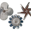 Set of 3 Vintage Aluminum Fan Blades as Wall Art at Relique