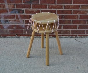 Sewn stool by Craighton Berman