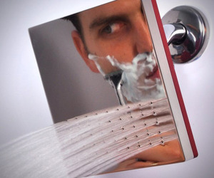 Shaving Showerhead Mirror by Reflect