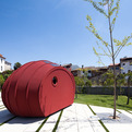 Shelter ByGG, Sleeping in a Sustainable Itinerant Sculpture