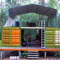 Shipping Container Cottage in Rainforest