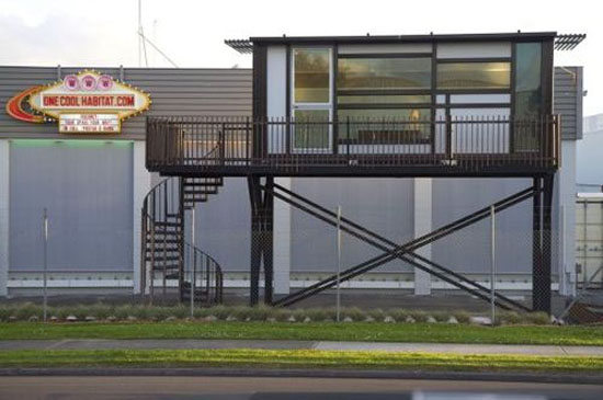 Shipping container house by one cool habitat for Habitat container