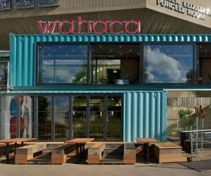 Shipping Container Pop Up Restaurant by Softroom Architects