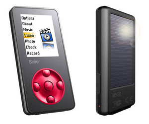 Shiro SQ-S – Solar Powered MP4 Player