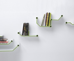 Short Circuit shelf holds your books elegantly