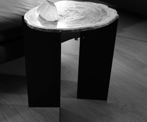 Siku Petrified Wood Side Table by Stephane Michaelis