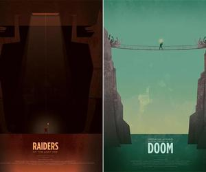 Simplistic Indiana Jones Poster Art